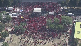 Teachers rally in downtown LA as tentative contract agreement reached