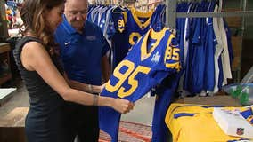 Buddy's All Stars in Burbank makes official Rams uniforms ahead of Super Bowl LIII