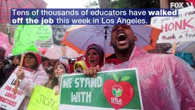 Head of striking LA teachers' union hopes talks will resume 'soon'