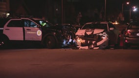 DUI police pursuit ends in Norwalk with crash involving deputy