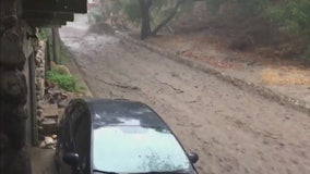Road turned into raging river in Burbank