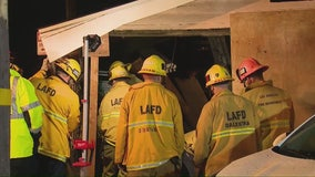 Car crashes into Metro Gold Line train in LA