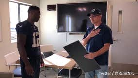 Rams' Brandin Cooks surprises team employee with Super Bowl tickets
