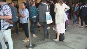 Long lines at the Registrar's Office in Norwalk