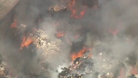 Pomona recycling facility fire