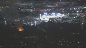 Fire crews put out two fires near Dodger Stadium during World Series game