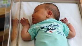 Hospital gives adorable Baby Shark onesies to babies born during Shark Week