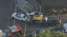 Several injured after multi-vehicle crash in West L.A.