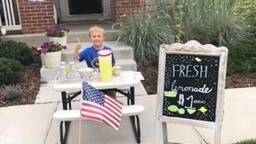 6-year-old opens lemonade stand to take mom on date after dad passes away from cancer
