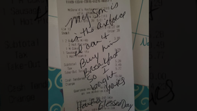 Woman finds touching note on McDonald's receipt: 'I can't buy my son breakfast so I bought yours'