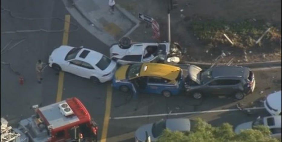 Car Crash Los Angeles: Several Injured After Multi-vehicle Crash In West L.A