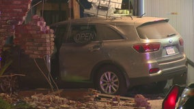 Vehicle crashes into Covina restaurant, two injured