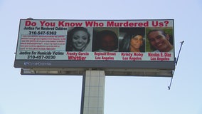 Organization unveils new billboard to help catch killers of unsolved murders in L.A.