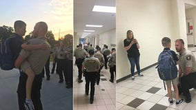 Son of fallen Hall County deputy gets escort for first day of school