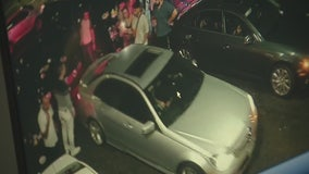 Security video shows Mercedes-Benz driver ram parked car into traffic in Hollywood