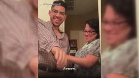 Mom's emotional reaction to seeing son in late father's shirt goes viral