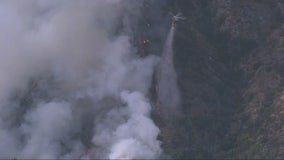 Crews continue to battle brush fire near Eagle Rock; section of 2 Freeway reopened