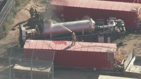 Fire breaks out at oil facility near Beverly Hills High School