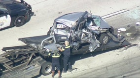 Multi-car crash on 60 Freeway near Jurupa Valley creates traffic nightmare
