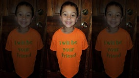 'I'll be your friend': 6-year-old boy makes t-shirt to battle school bullying