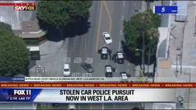 Woman taken into custody after leading police on chase through Los Angeles