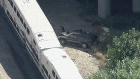 Metrolink train, SUV collision in Granada Hills injures 1 person