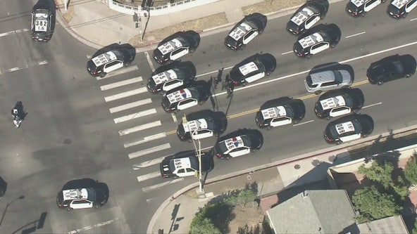 Heavy police presencein Arleta following officer-involved shooting