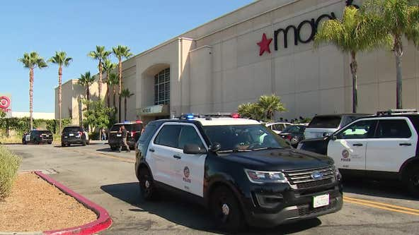 Two people arrested for robbery/grand theft at Topanga Mall in Canoga Park