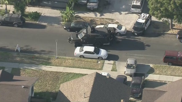 Suspect barricaded in South L.A. home