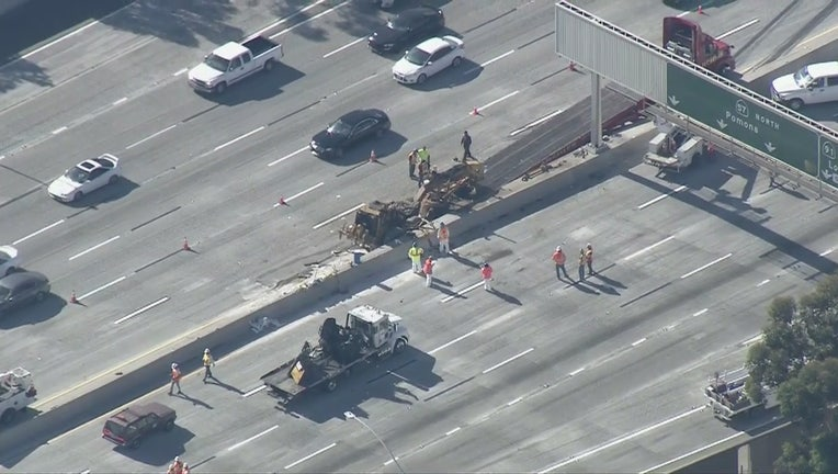 Crash shuts down northbound 57 Freeway in Anaheim | FOX 11