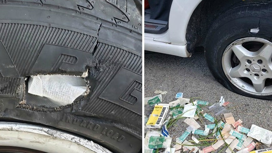 Man arrested while trying to repair flat tires using gauze, Band-Aids in Orange County