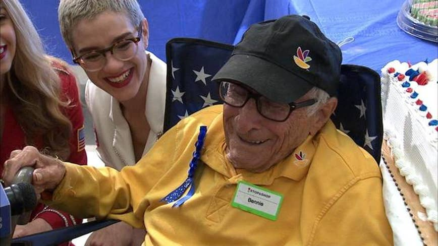 98-year-old veteran celebrates birthday at work