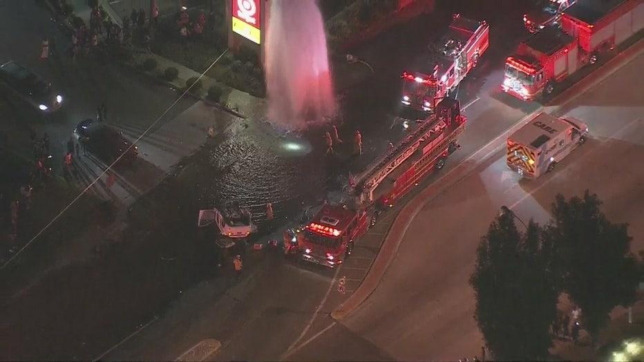 Car Crash Los Angeles: Multi-car Crash Injures Several People; Shears Fire