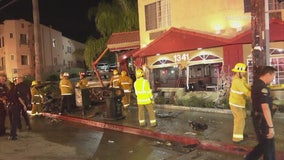 Two seriously injured after car plows into Super 8 Motel lobby