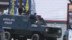 Armed suspect barricaded in Santa Ana store arrested