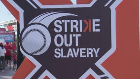 L.A. Angels bring awareness to human trafficking with event 'Strike out Slavery'