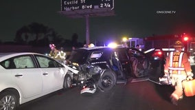 Two CHP officers injured in 405 Freeway multi-vehicle crash