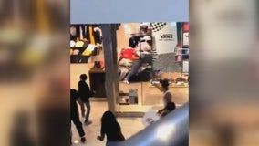 Chaos breaks out at Westfield Culver City Mall after window shatters in violent fight