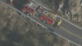 County firefighters rescue motorcyclist who went down ravine in Malibu