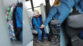 Act of kindness: Wisconsin bus driver holds young boy's hand to comfort him on first day of school
