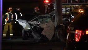 Motorist, 22, killed and four passengers injured during crash in Inglewood