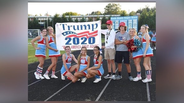 NC cheerleaders on probation after posing with Trump signs