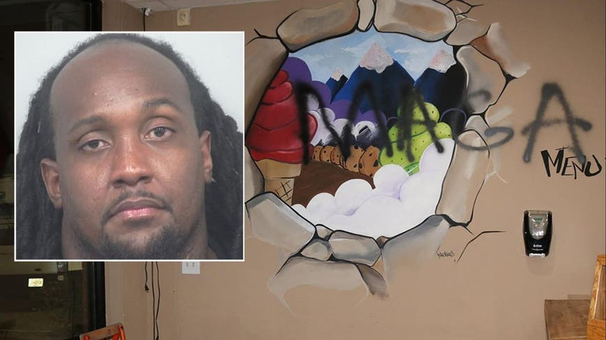 Ex-NFL player accused of trashing his 2 businesses to make it look like a hate crime