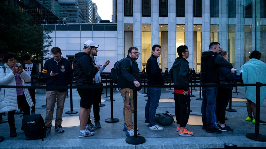 Customers line up outside major Apple stores worldwide as iPhone 11 officially goes on sale