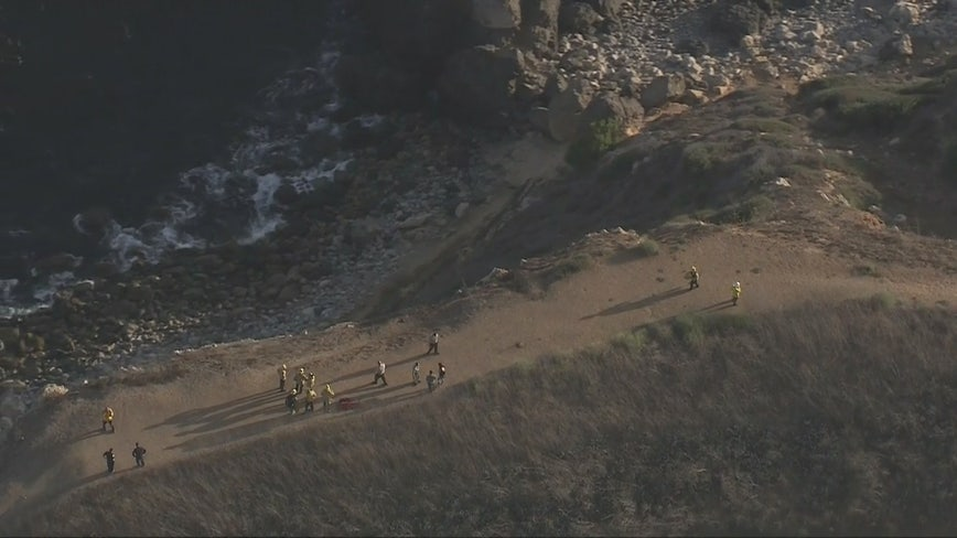 Cliff rescue turns into a body recovery operation in Rancho Palos Verdes