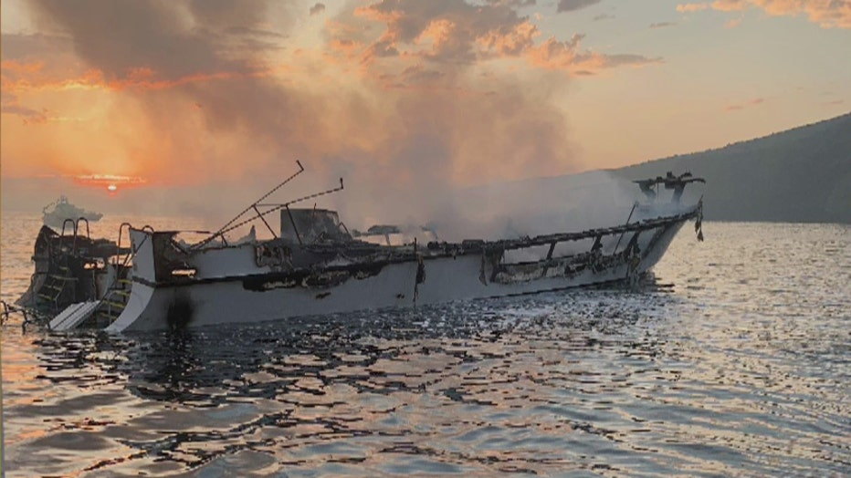 4 bodies recovered near boat that caught fire off Santa Cruz