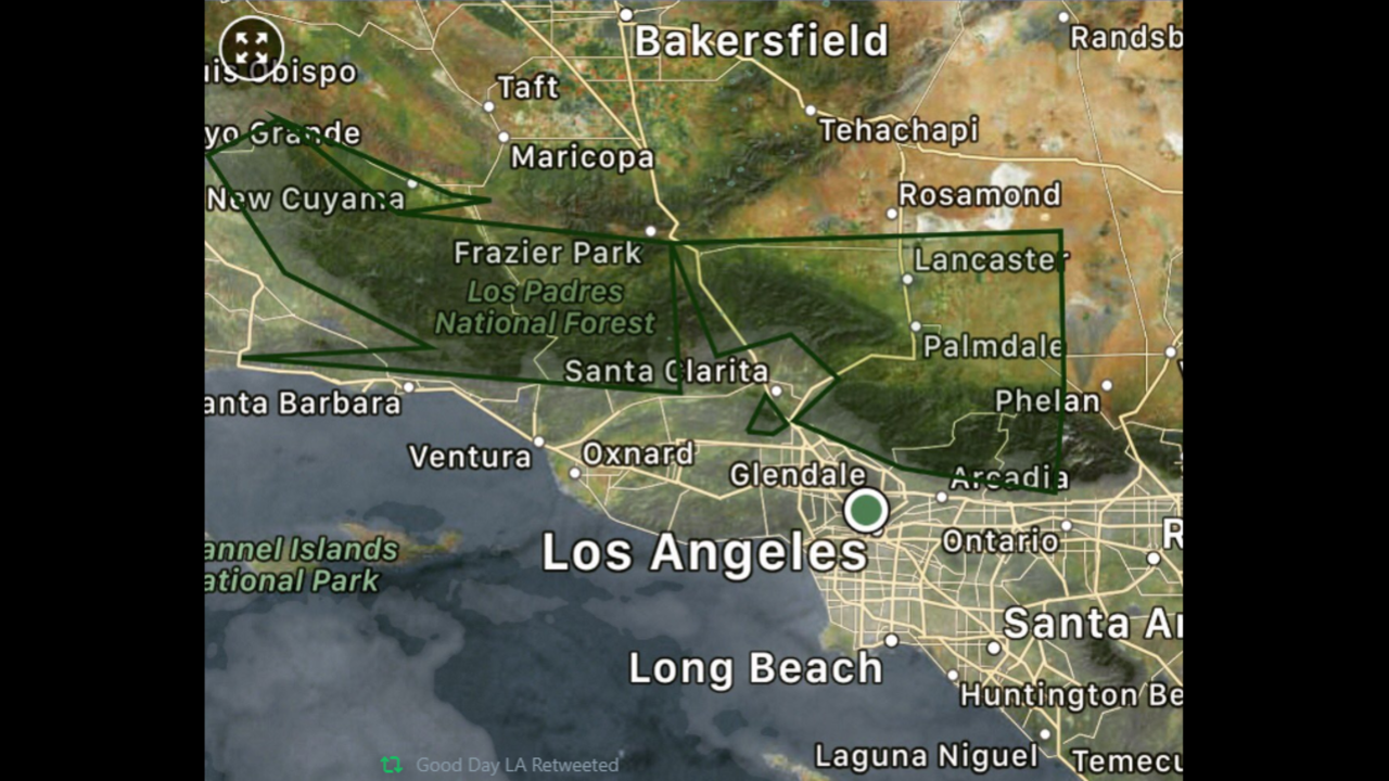 Thunderstorms, Showers Strike Southern California ...  |Antelope Valley Flash Flood