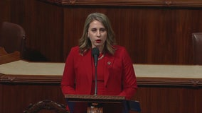 """""""I am leaving because of a misogynistic culture"""", CA Rep. Katie Hill gives final speech as member of Congress"""