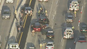 No injuries reported in seven-vehicle pile-up on 5 Freeway