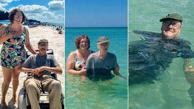 93-year-old Florida man goes to the beach for the first time -- and soaks in every moment